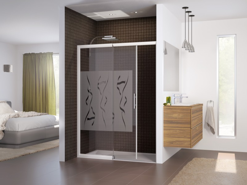 portes de douche coulissantes sur. Black Bedroom Furniture Sets. Home Design Ideas